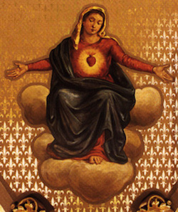 immaculate heart mary  basilica mural